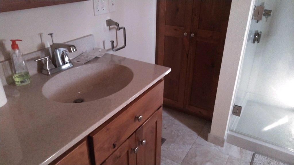Bathroom and Living Room Floor Updates